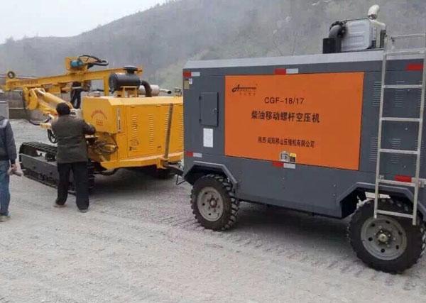 贵州石场购柴移空压机